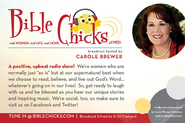 Bible Chicks Radio Show - post card (front)