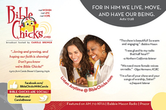 Bible Chicks Radio Show - post card (back)