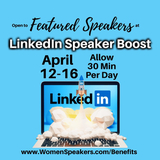Featured Speaker Boost Week